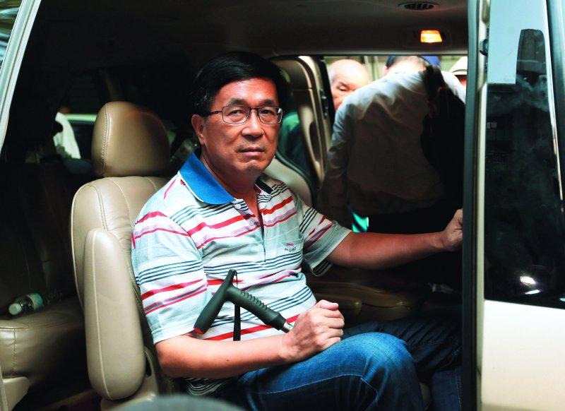 陳水扁的政治操作,反而「證實」他的健康。(林瑞慶攝)