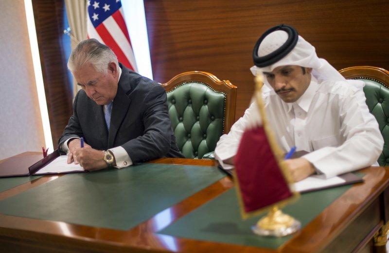 卡達與美國11日簽署反恐備忘錄。(美聯社)
