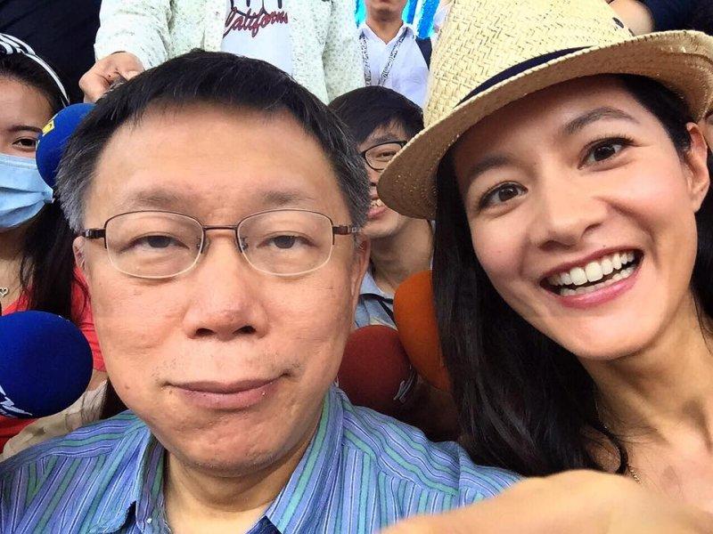 柯P與藝人Janet生動的說故事能力,這兩位專家功不可沒!(圖/柯文哲@Facebook)