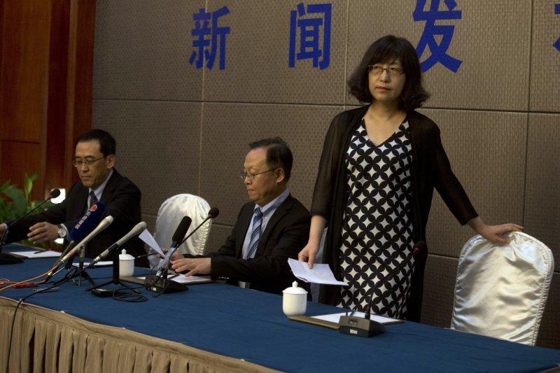 2017年7月13日,中國民主人權運動領袖、諾貝爾和平獎得主劉曉波病逝,中國醫科大學附屬第一醫院召開記者會(AP)