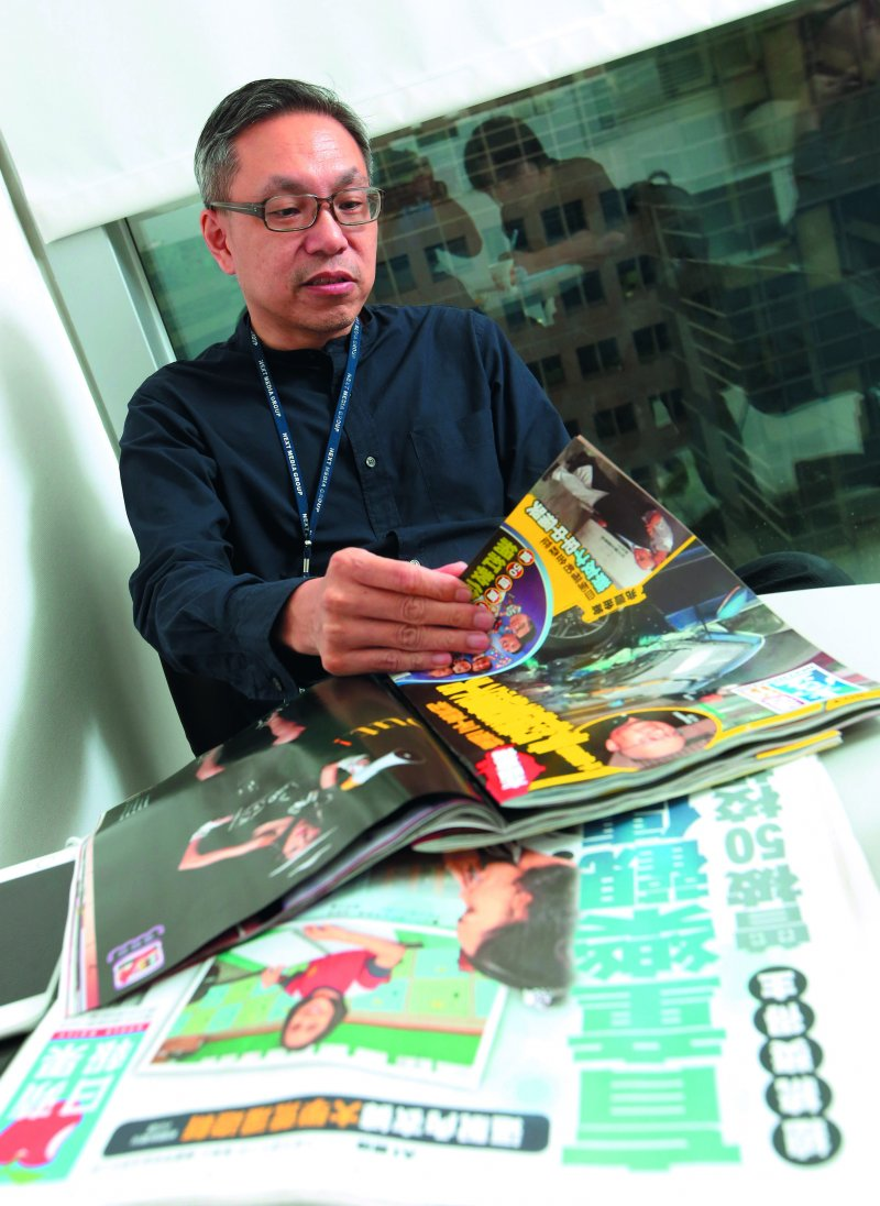 張劍虹自詡為《壹週刊》人,得知出售消息相當感傷。(郭晉瑋攝)