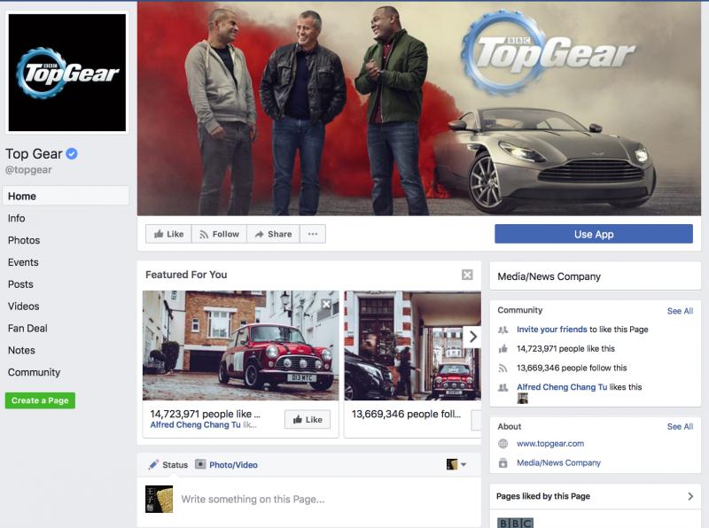 BBC的節目「頂級跑車秀」(Top Gear)。