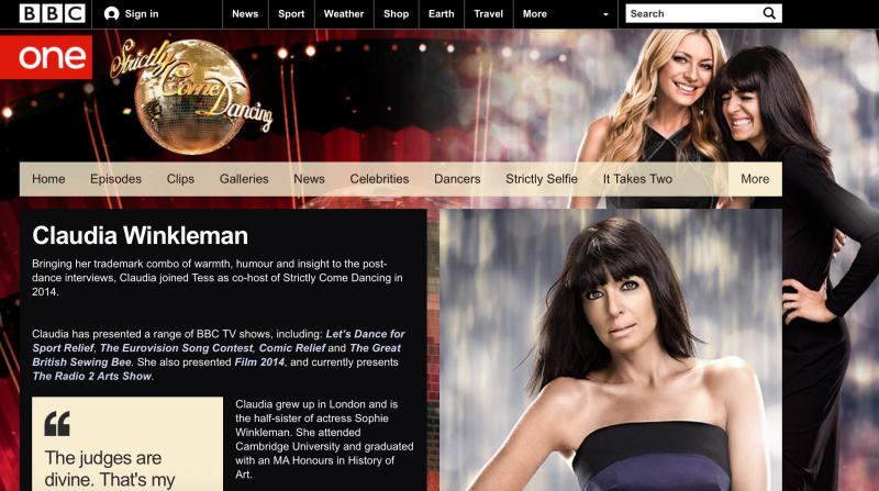 BBC的節目「來跳舞吧」(Strictly Come Dancing)。