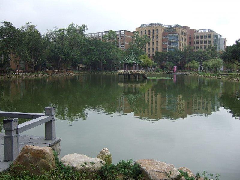 倚立在台大醉月湖上的湖心亭,背後也有一段淒美的故事。(圖/維基百科)