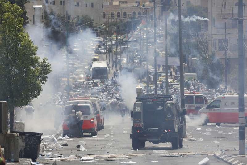 以巴衝突在約旦河西岸同樣激烈。(美聯社)