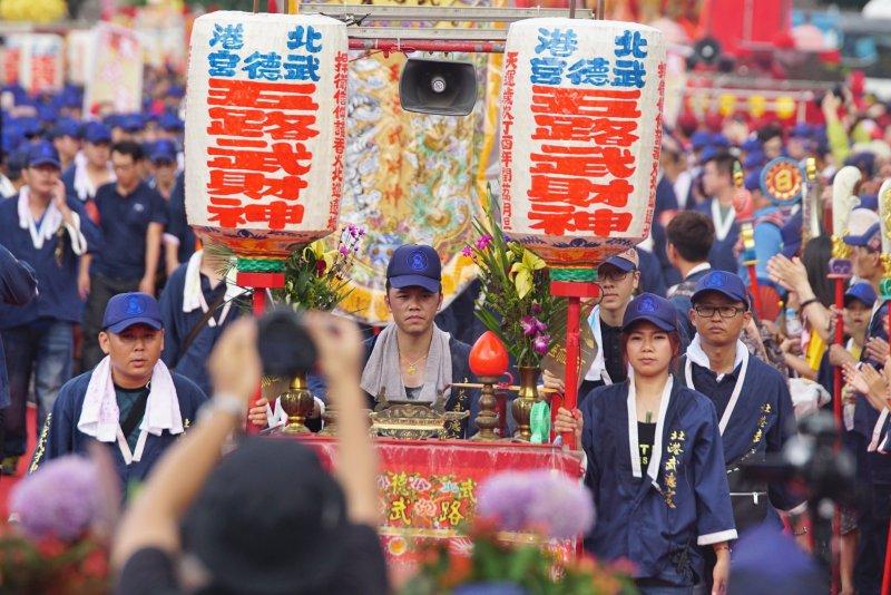 20170723-史上最大科、眾神上凱道,眾家神明於台北市中心大會師,北港武德宮陣頭進場。(盧逸峰攝)