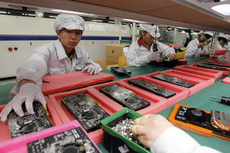 鴻海科技集團(富士康)位於中國廣東深圳的工廠(AP)