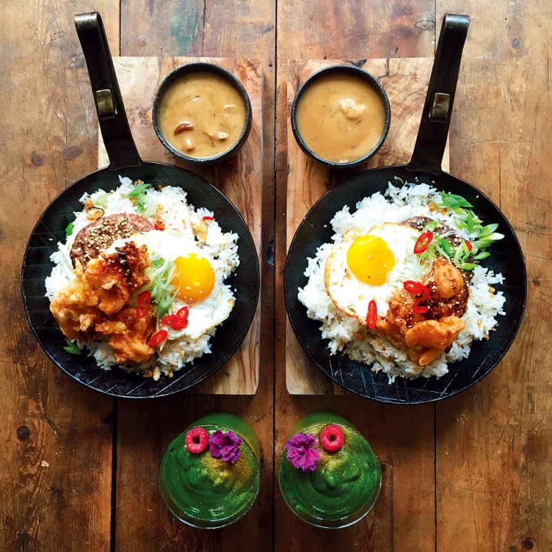 對稱早餐-夏威夷式漢堡排飯(圖/悅知文化提供)