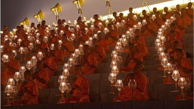 泰國絶大多數人篤信佛教。(BBC中文網)
