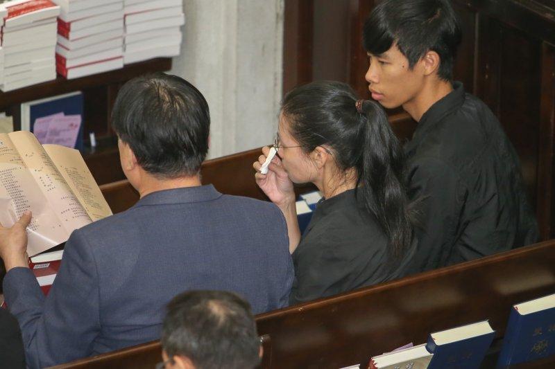 20170730-劉曉波先生追思紀念會,李明哲的妻子李凈瑜。(陳明仁攝)