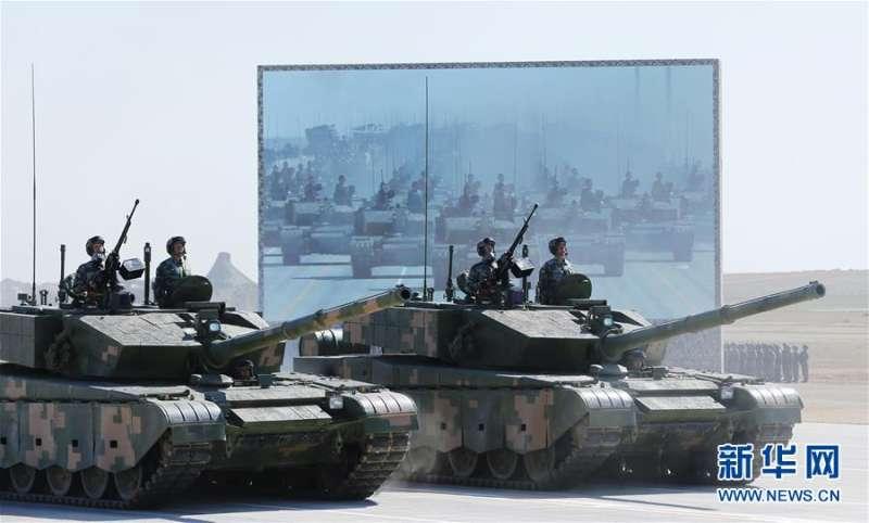中國人民解放軍慶祝建軍90周年大閱兵,這是99A主戰坦克(取自網路)