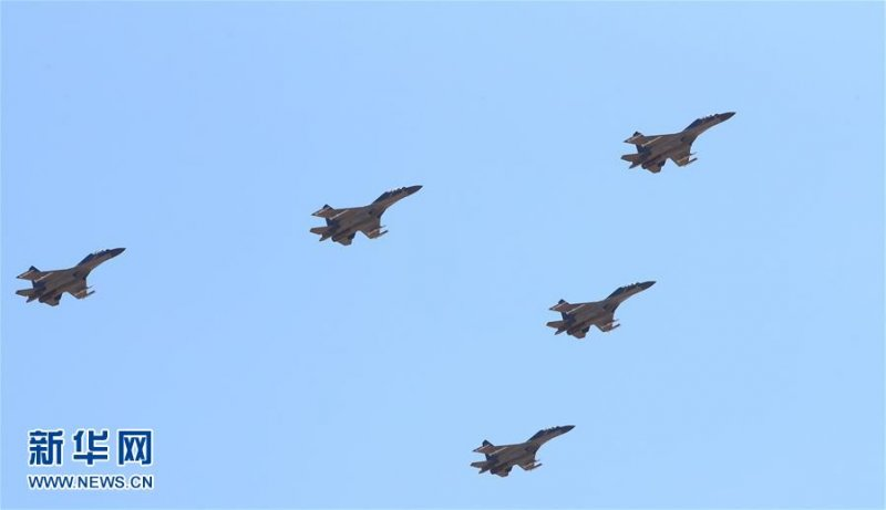 中國人民解放軍慶祝建軍90周年大閱兵,這是殲-16戰機(取自網路)