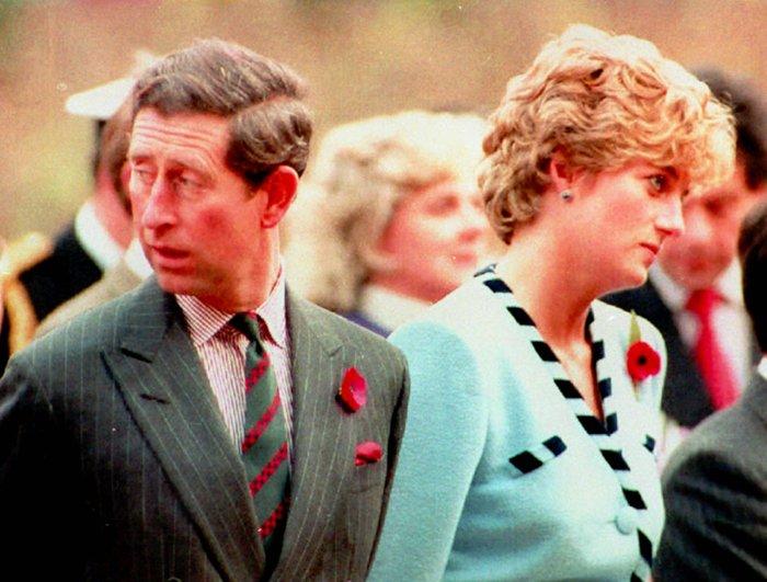 查爾斯王儲與黛安娜王妃結婚沒多久就感情觸礁,兩人後來離婚收場(AP)