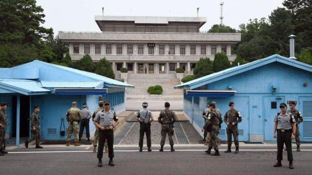 南北韓之間的非軍事區是世界上軍事化最強的地區之一。(BBC中文網)