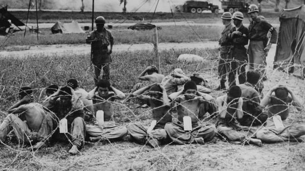 1950年代的戰爭給朝鮮半島留下巨大的慘痛和破壞。(BBC中文網)