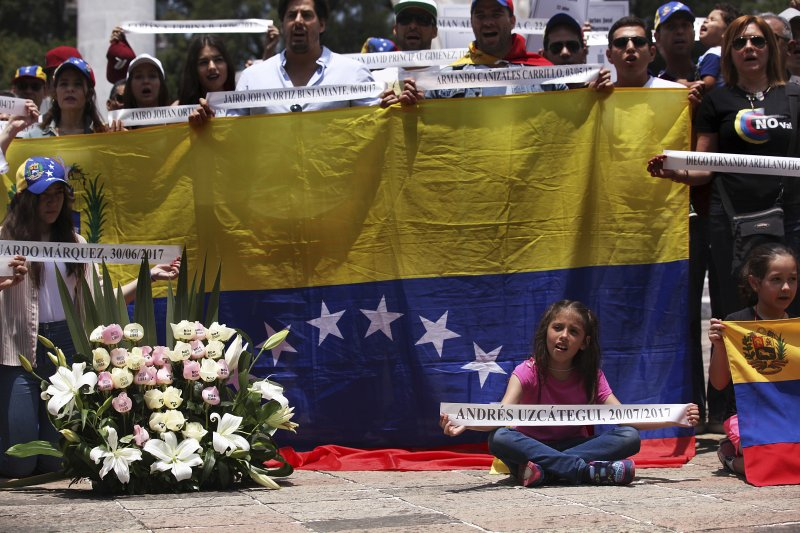 委內瑞拉,制憲會議公投,示威。(美聯社)