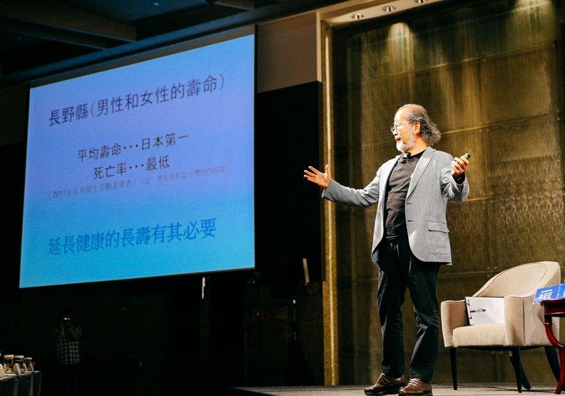 鎌田實鼓勵當地民眾改變飲食習慣,長野縣成為全日本最長壽的地方。(圖/賴永祥攝,遠見雜誌提供)