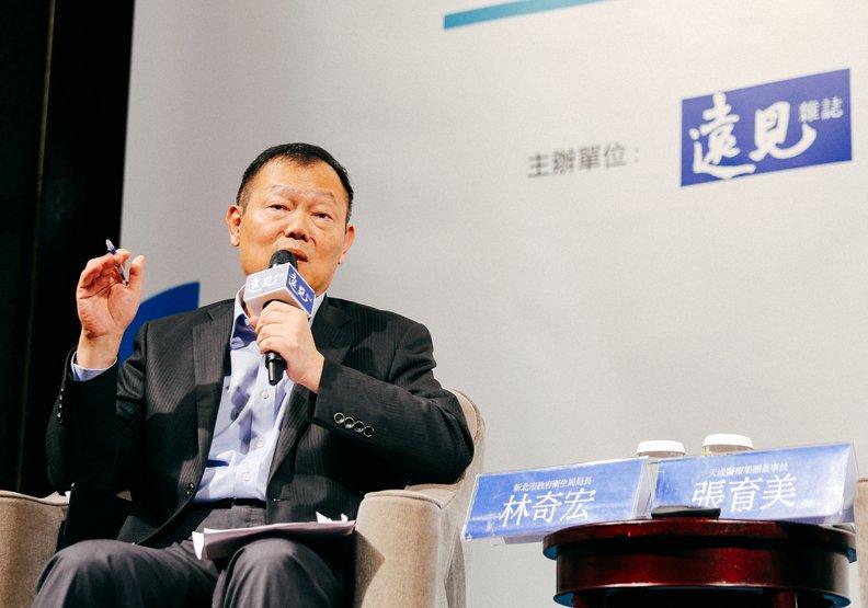 新北市政府衛生局長林奇宏表示,失能、失智、失群是長者最不樂見的生活。(圖/賴永祥攝,遠見雜誌提供)