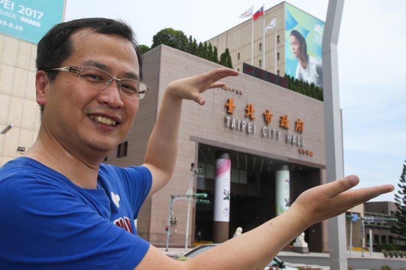 20170806-有意投入台北市長選舉的前總統府副秘書長羅智強,6日宣布成立「台北強工作室」。(陳明仁攝)。(陳明仁攝)