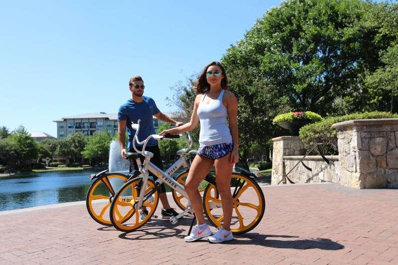 來自美國的「V Bikes」8月初在宜蘭投放,預計將於8月中開放試騎,和oBike競逐台灣市場。(取自V Bikes 臉書)