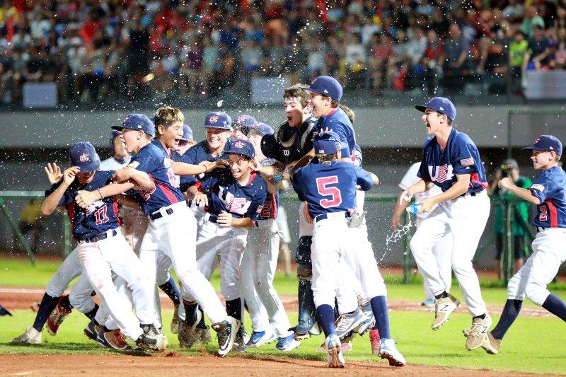 美國隊獲得WBSC第四屆世界盃少棒錦標賽冠軍。(台南市政府提供)