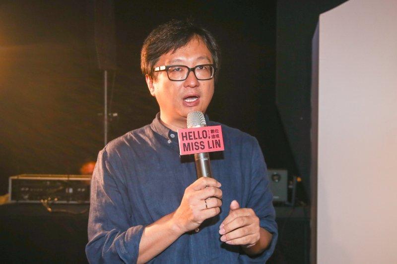 中華文化總會副秘書長張鐵志出席「Hello, Miss Lin 跨界女神 數位遶境」媒體預覽會。(陳明仁攝)