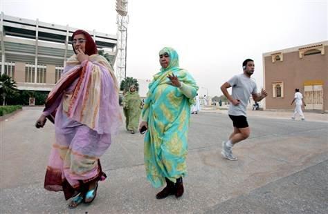 茅利塔尼亞認為肥胖的女人是富裕的象徵(AP)
