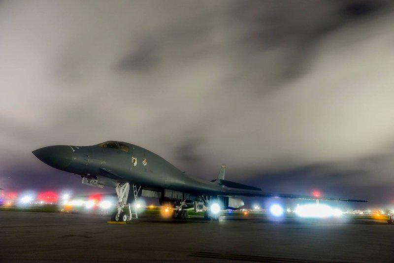 美國關島安德森空軍基地B-1B轟炸機。(取自U.S. Pacific Command臉書)