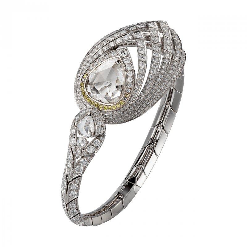 Pure Swan頂級珠寶手環式腕錶(圖/Cartier)
