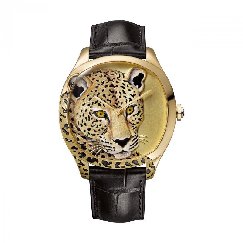 Drive de Cartier美洲豹裝飾腕錶(圖/Cartier)