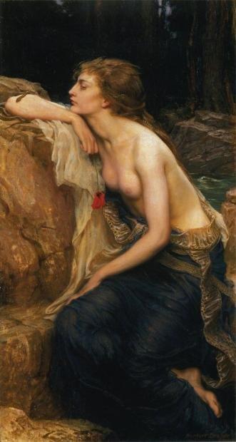拉彌亞(Lamia),Herbert James Draper的作品(1909)。(圖/Outside提供)