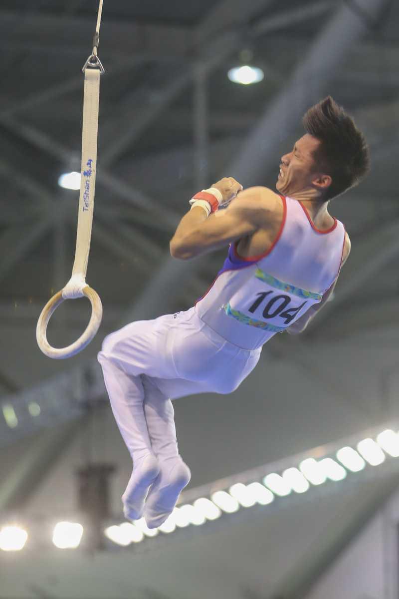 20170822-世大運-「翻滾吧!男孩」-競技體操、男子個人全能(單槓.雙槓.地板.跳馬.鞍馬)、中華隊104李智凱。(陳明仁攝)