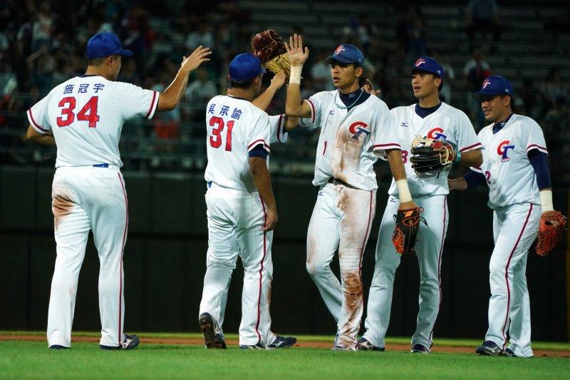 世大運棒球賽,中華隊對捷克,中華隊7局提前結束比賽。(大專體總提供)