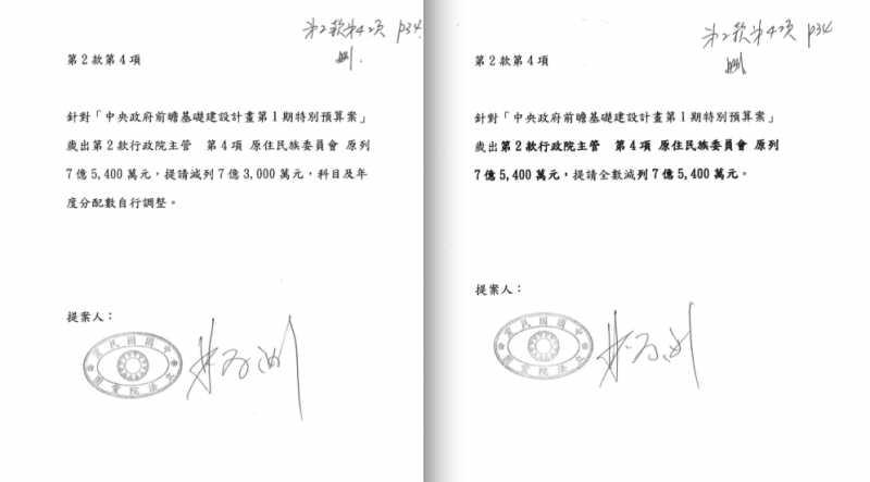2017-08-24-立法院第3次臨時會,國民黨團提案刪除原民會全數預算-風傳媒翻攝