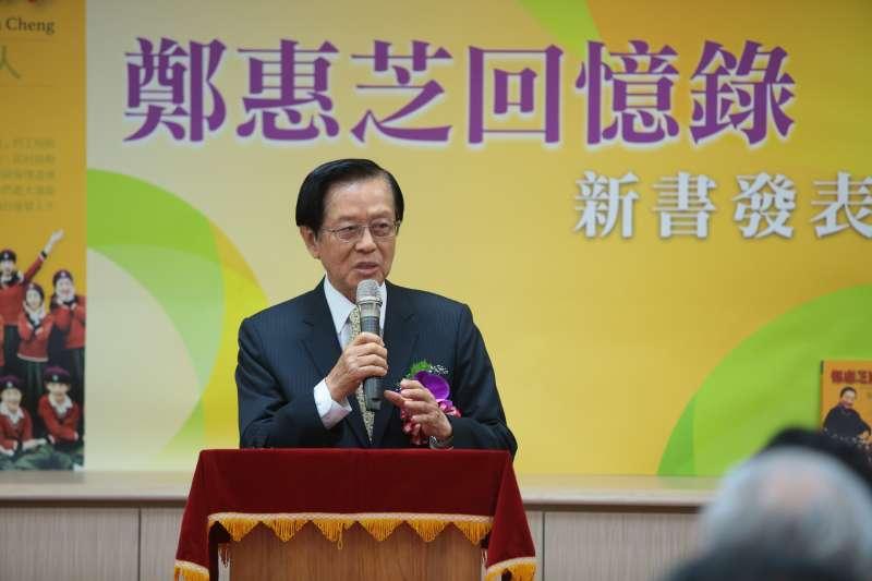 20170826-前外交部長楊進添26日出席「鄭惠芝回憶錄」新書發表會。(顏麟宇攝)