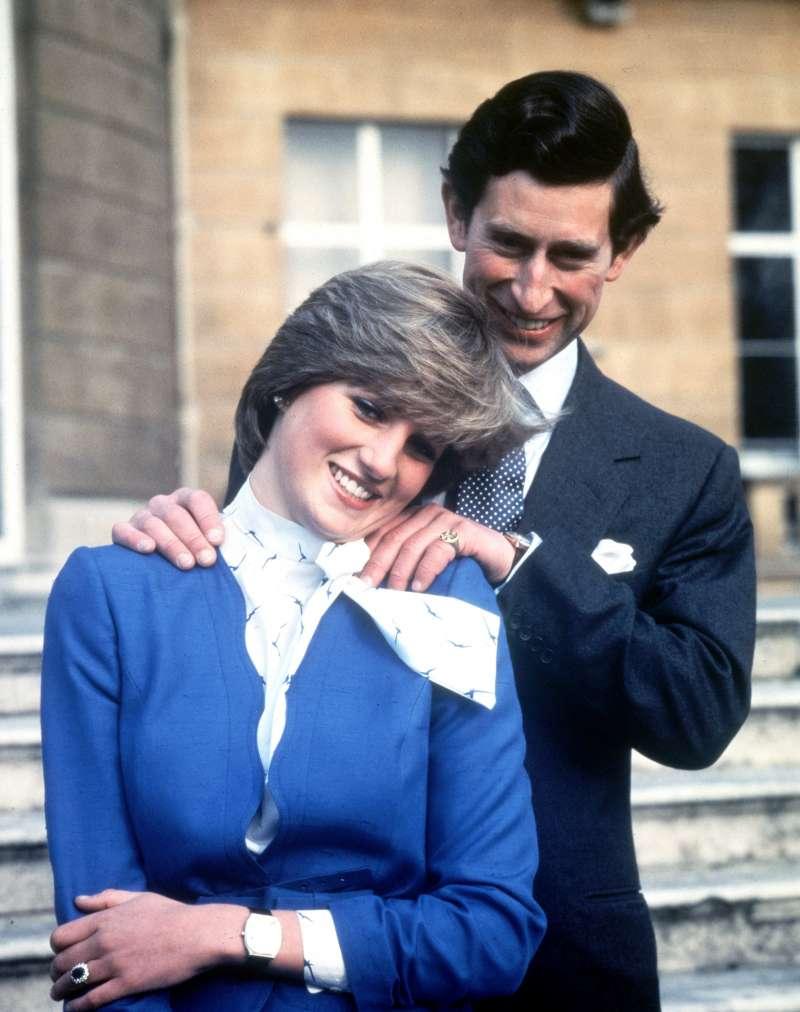 英國黛安娜王妃與查爾斯王子,攝於1981年2月24日(AP)