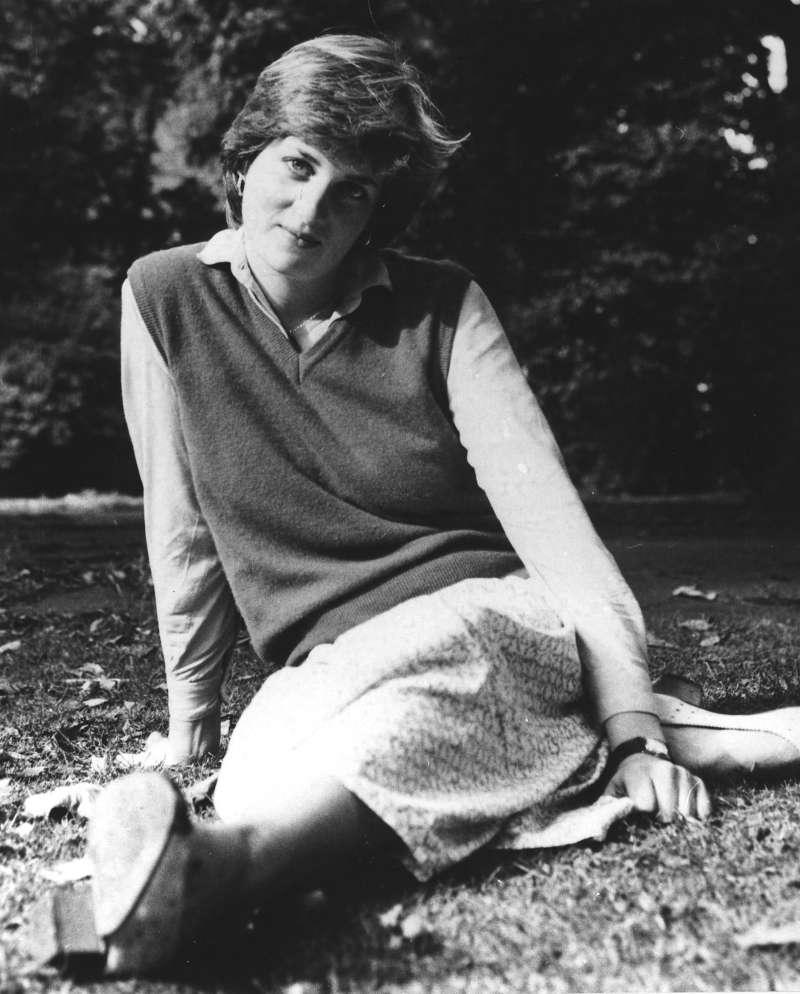 英國黛安娜王妃車禍過世,攝於1980年(AP)