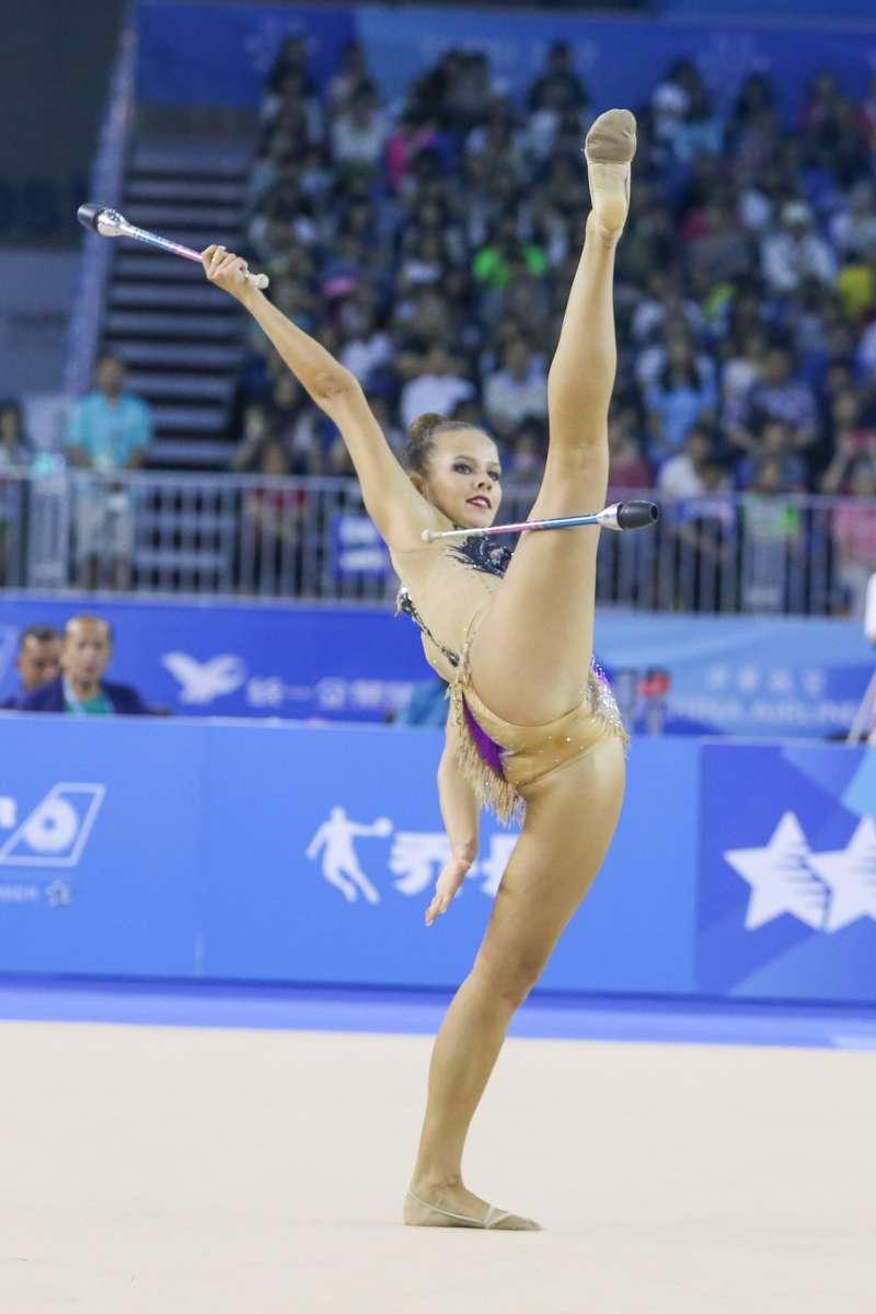 EST-愛莎尼亞選手參與20170829-圖集-韻律體操-棒及帶勁與美的競技。(陳明仁攝)