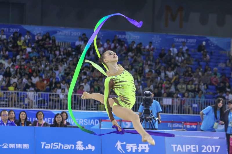 UKR烏克蘭選手參與20170829-圖集-韻律體操-棒及帶勁與美的競技。(陳明仁攝)