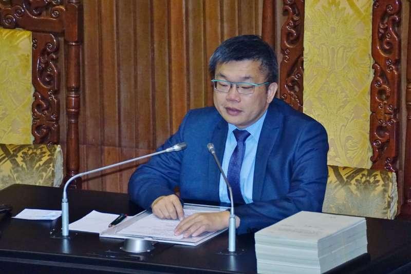 20170830-立法院副院長蔡其昌主持院會。(盧逸峰攝)