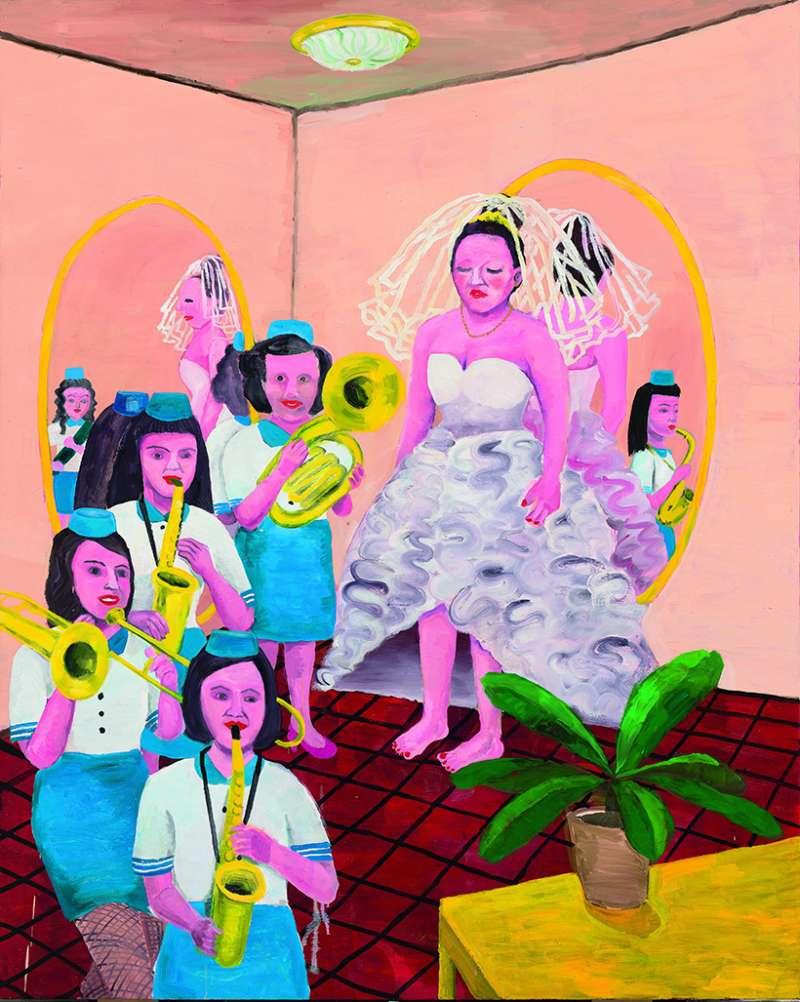 黃海欣〈新娘和她的西樂隊〉,2012。(圖/非池中藝術提供)