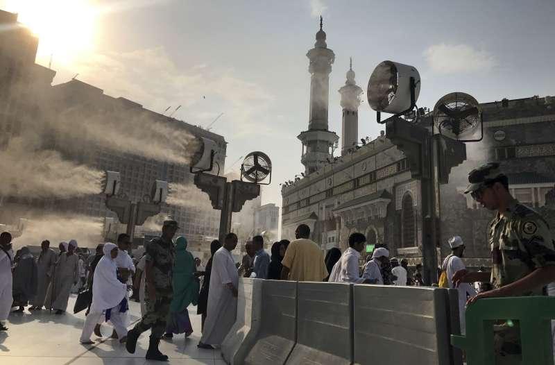 2017年8月30日,伊斯蘭教朝覲在麥加登場。(美聯社)