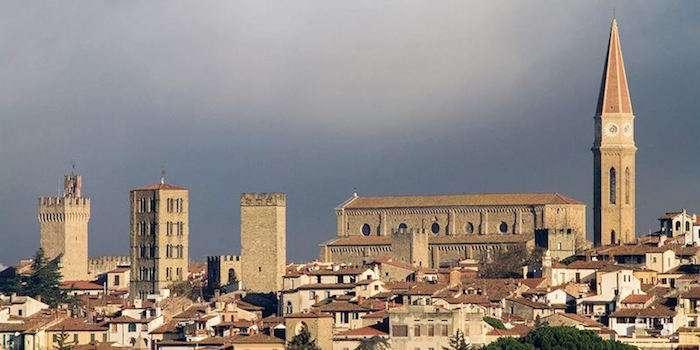 阿雷佐市中心廣場。(圖片取自La Giuchiglia)