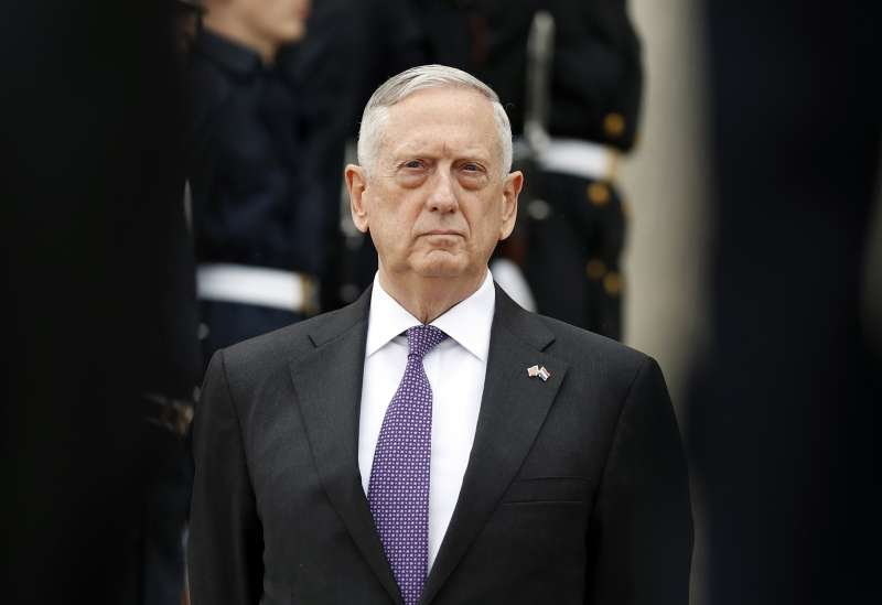 美國國防部長馬提斯下令對阿富汗增兵(AP)