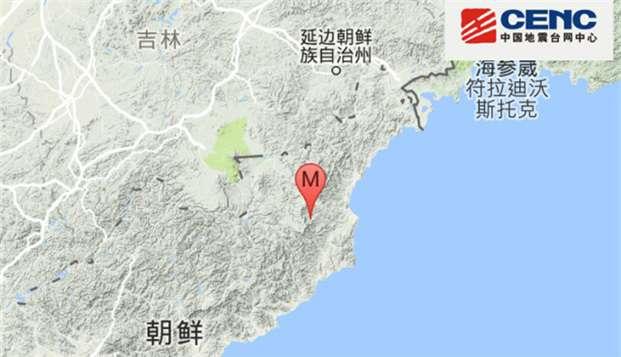 北韓核彈試爆地點鄰近中國邊界(取自網路)