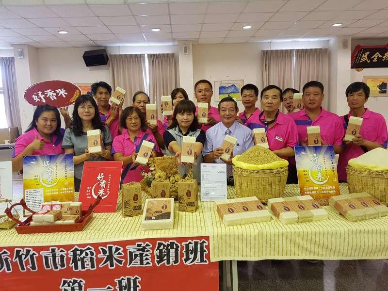 新竹好物「好香米」4日正式上市,市府呼籲市民大眾以實際行動支持在地小農。(圖/方詠騰攝)