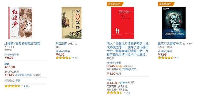亞馬遜中國的免費電子書。(取自亞馬遜中國)
