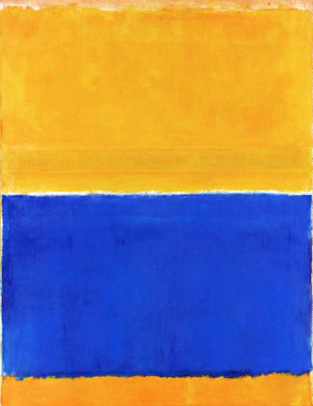 作品:無題《黃與藍》。1954年創作完成,2015年5月在紐約索斯比拍賣行拍出了4650萬美元(約14億2700萬元台幣)的高價。(圖/瘋設計提供)