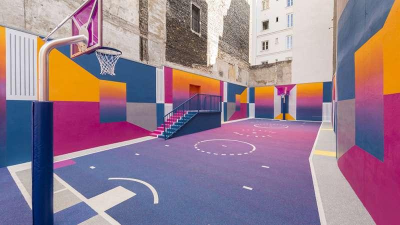 球場設計試圖探索體育與藝術美學的關係。(圖/取自Dezeen,瘋設計提供)