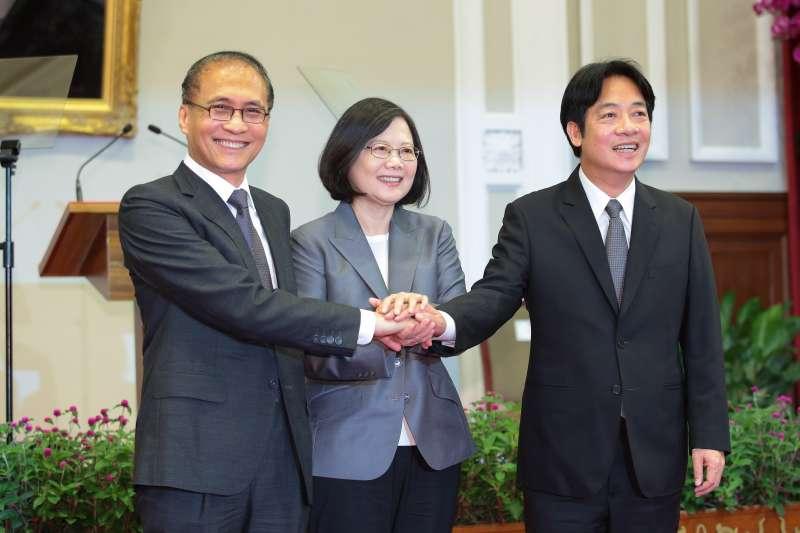 20170905-總統蔡英文5日親自召開新任行政院長公佈記者會,並確定由台南市長賴清德接任。(顏麟宇攝)